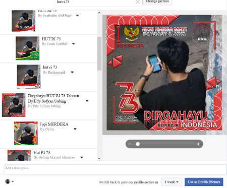 foto profil bingkai foto hut ri ke 73