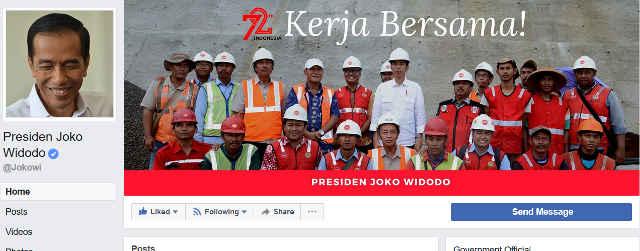 Presiden Joko widodo terverifikasi Facebook