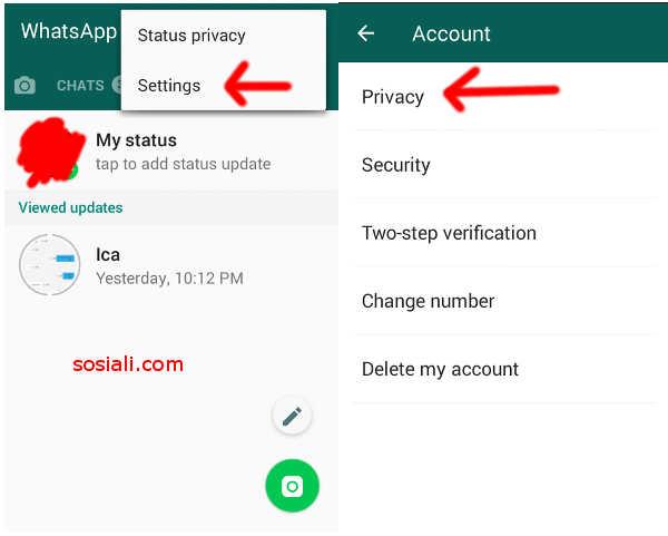 Privacy akun wa